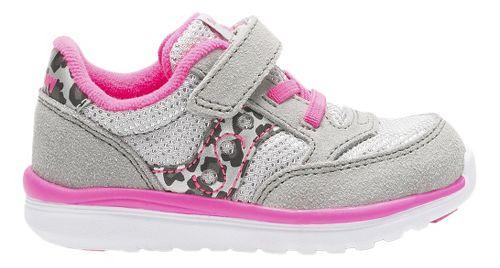 Kids Saucony Baby Jazz Lite Casual Shoe - Silver/Pink 7.5C