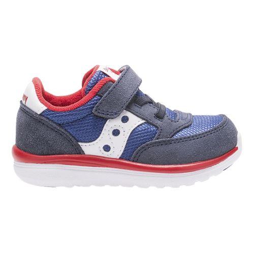Kids Saucony Baby Jazz Lite Casual Shoe - Blue/Red 11.5C