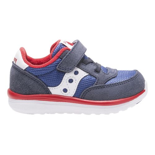 Kids Saucony Baby Jazz Lite Casual Shoe - Blue/Red 8.5C