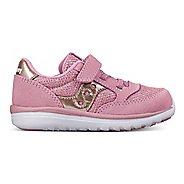 Kids Saucony Baby Jazz Lite Casual Shoe - Silver/Pink 10.5C