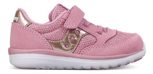 Kids Saucony Baby Jazz Lite Casual Shoe - Silver/Pink 10C