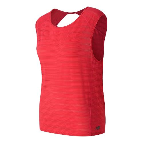 Womens New Balance Fashion Layer Tee Sleeveless & Tank Technical Tops - Blossom L