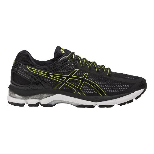 Mens ASICS GEL-Pursue 3 Running Shoe - Black/Green 10.5
