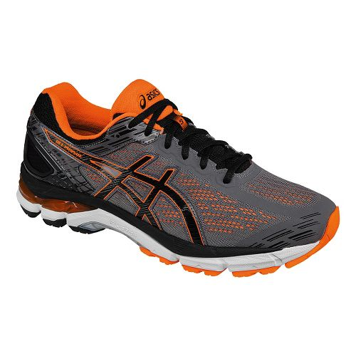 Mens ASICS GEL-Pursue 3 Running Shoe - Grey/Orange 12.5