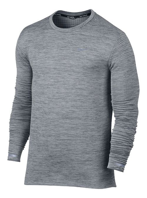Mens Nike Therma Sphere Element Long Sleeve Technical Tops - Cool Grey XL