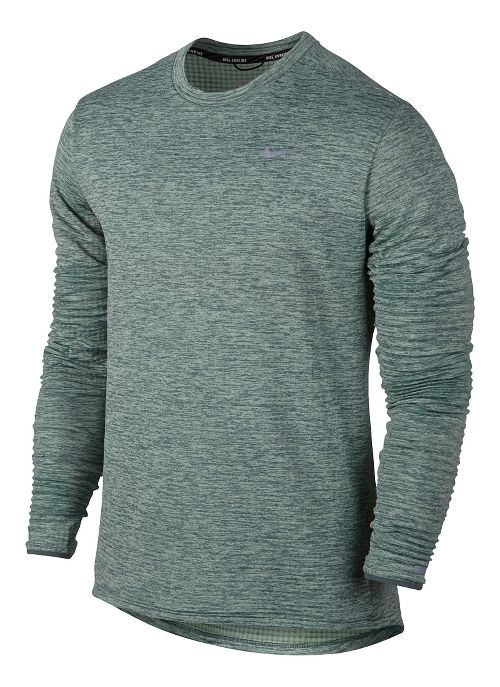 Mens Nike Therma Sphere Element Long Sleeve Technical Tops - Hasta Heather L