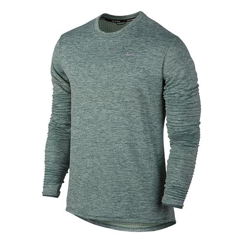 Mens Nike Therma Sphere Element Long Sleeve Technical Tops - Hasta Heather S