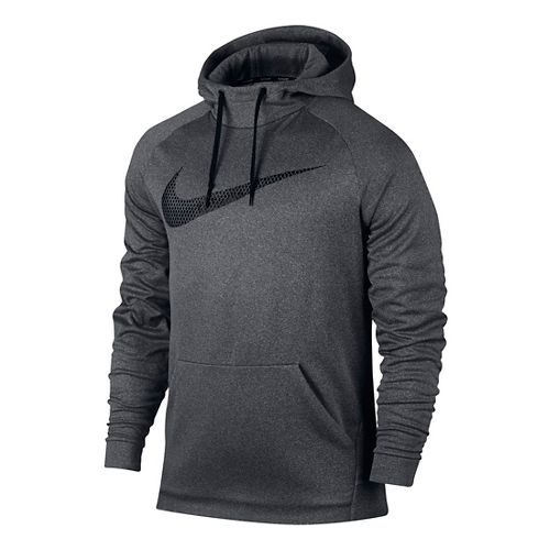 Mens Nike Therma Hoodie Half-Zips & Hoodies Technical Tops - Charcoal Heather L