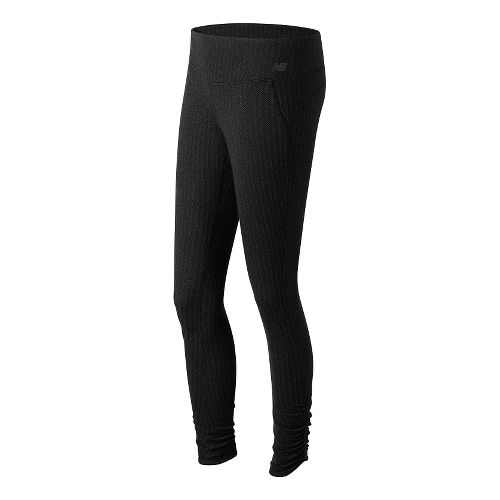 Womens New Balance Novelty Heat Tight Full Length Pants - Black XS