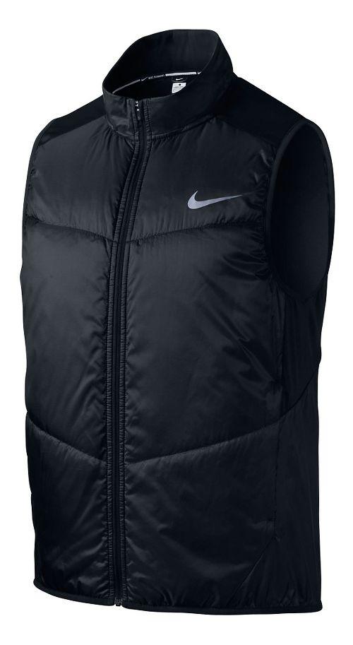 Mens Nike Polyfill Running Vests - Black S