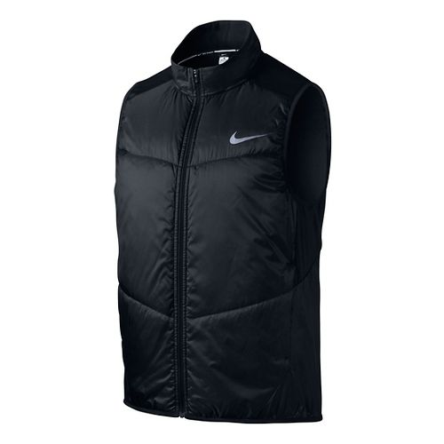 Mens Nike Polyfill Running Vests - Black XL