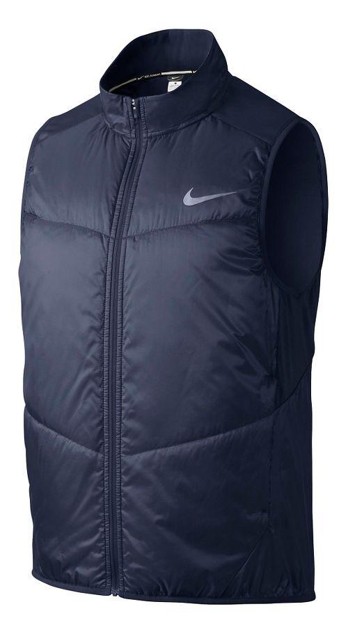 Mens Nike Polyfill Running Vests - Midnight Navy XL