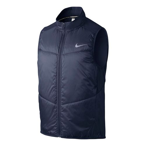 Mens Nike Polyfill Running Vests - Midnight Navy S