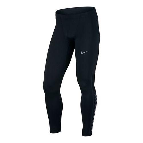 Mens Nike Power Flash Tech Running Tights & Leggings - Black L