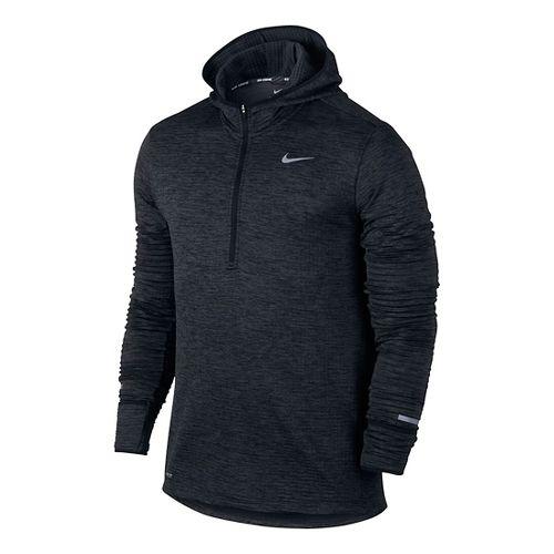 Mens Nike Therma Sphere Element Running Hoodie Half-Zips & Hoodies Technical Tops - Black ...