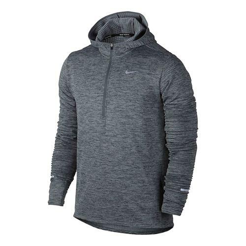 Mens Nike Therma Sphere Element Running Hoodie Half-Zips & Hoodies Technical Tops - Cool Grey ...