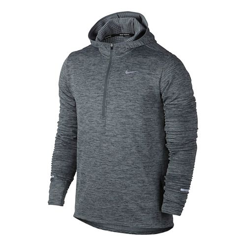 Mens Nike Therma Sphere Element Running Hoodie Half-Zips & Hoodies Technical Tops - Cool Grey ...