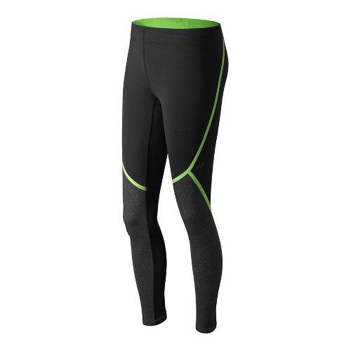 Womens New Balance Trinamic Tights & Leggings Pants - Lime Glow L