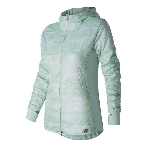 Womens New Balance NB Heat Hybrid Running Jackets - Droplet Floral Print L