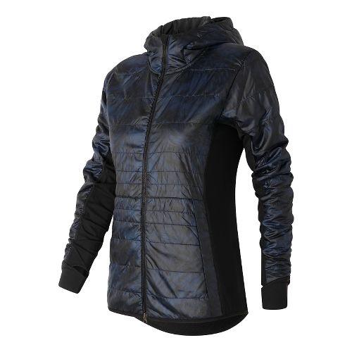 Womens New Balance NB Heat Hybrid Running Jackets - Galaxy Floral Print L