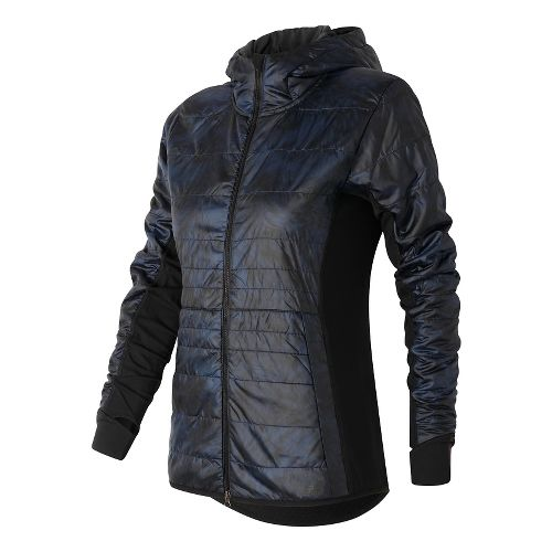 Womens New Balance NB Heat Hybrid Running Jackets - Galaxy Floral Print XS