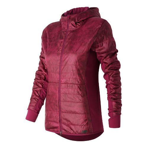 Womens New Balance NB Heat Hybrid Running Jackets - Jewel Floral Print M
