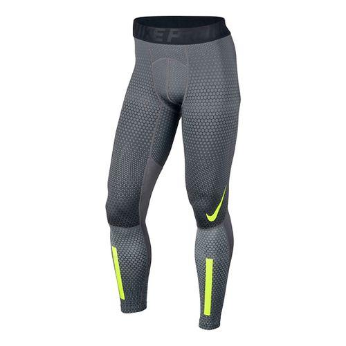 Mens Nike Pro Hyperwarm Hexodrome Tights & Leggings - Cool Grey M
