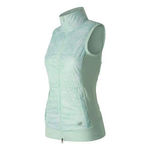 Womens New Balance NB Heat Hybrid Vests Jackets - Droplet Floral Print L