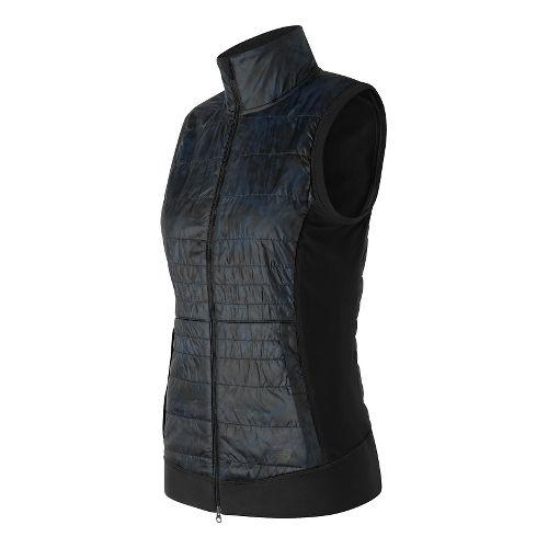 Womens New Balance NB Heat Hybrid Vests Jackets - Galaxy Floral Print M
