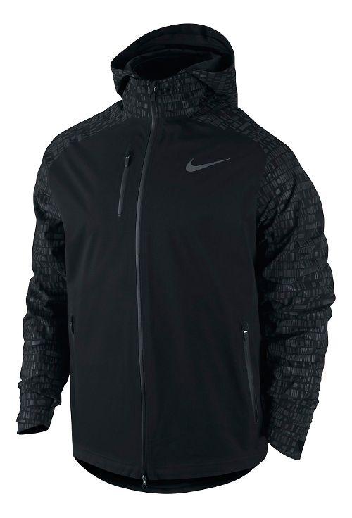 Mens Nike Hypershield Flash Running Running Jackets - Black M