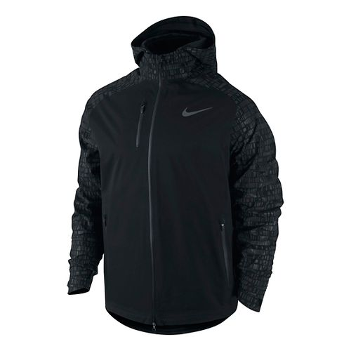 Mens Nike Hypershield Flash Running Running Jackets - Black XL
