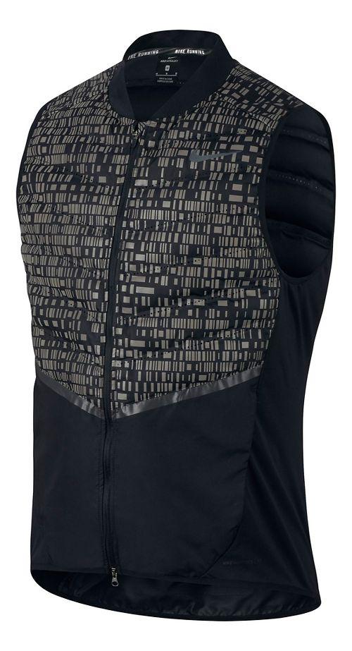 Mens Nike Aeroloft Flash Vests - Black L