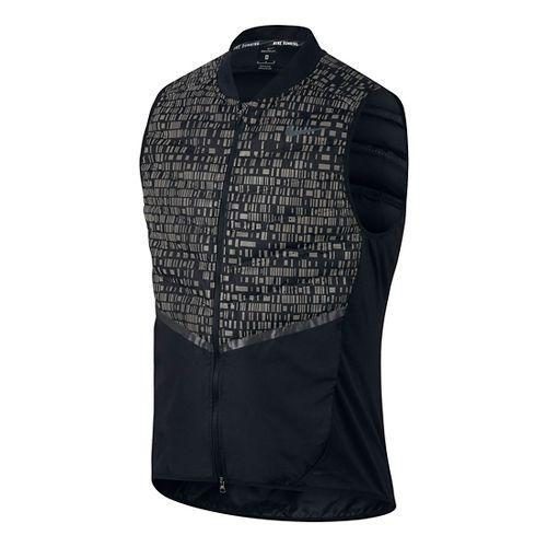 Mens Nike Aeroloft Flash Vests - Black XL