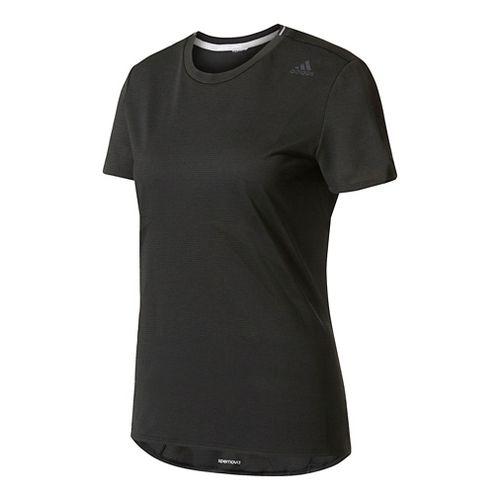 Womens Adidas Supernova Tee Short Sleeve Technical Tops - Black XS