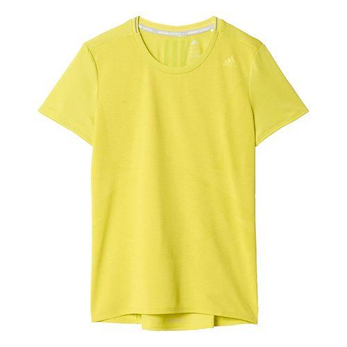 Womens adidas Supernova Tee Short Sleeve Technical Tops - Shock Slime XL