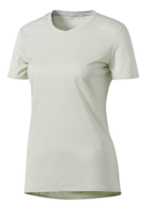 Womens adidas Supernova Tee Short Sleeve Technical Tops - Linen Green M