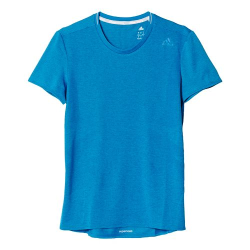 Womens adidas Supernova Tee Short Sleeve Technical Tops - Unity Blue M