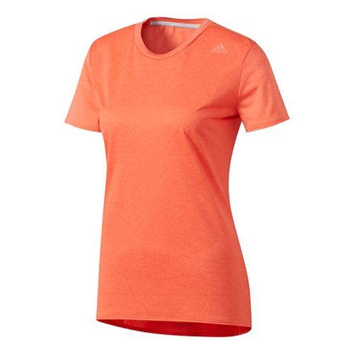 Womens Adidas Supernova Tee Short Sleeve Technical Tops - Easy Coral M