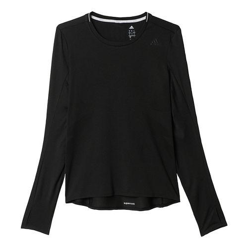 Womens adidas Supernova Tee Long Sleeve Technical Tops - Black XL