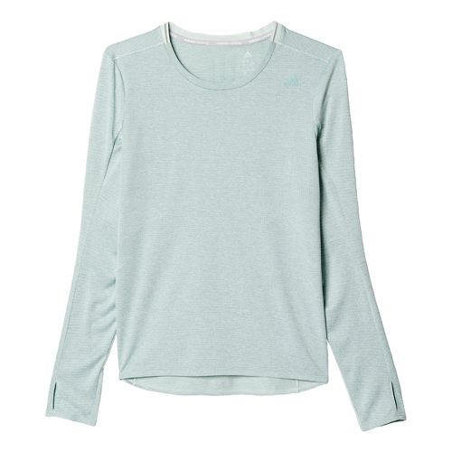 Womens adidas Supernova Tee Long Sleeve Technical Tops - Vapour Green L
