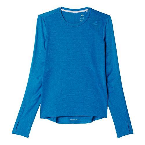 Womens adidas Supernova Tee Long Sleeve Technical Tops - Unity Blue M