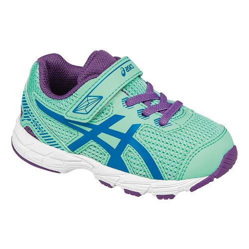 Kids ASICS GT-1000 5 Running Shoe - Mint/Purple 5C