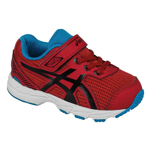 Kids ASICS GT-1000 5 Running Shoe - Red/Black 9C