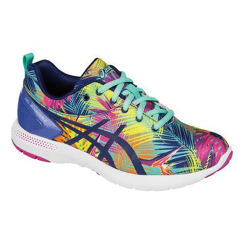 Kids ASICS Bounder Running Shoe - Blue/Pink 4
