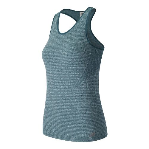 Womens New Balance M4M Seamless Sleeveless & Tank Technical Tops - Castaway Heather L