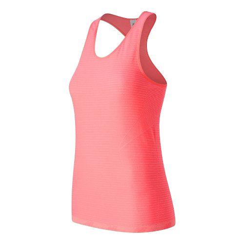 Womens New Balance M4M Seamless Sleeveless & Tank Technical Tops - Guava Heather XS
