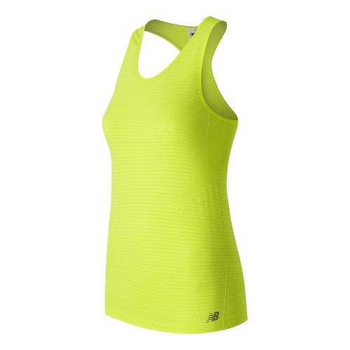 Womens New Balance M4M Seamless Sleeveless & Tank Technical Tops - Firefly Heather M