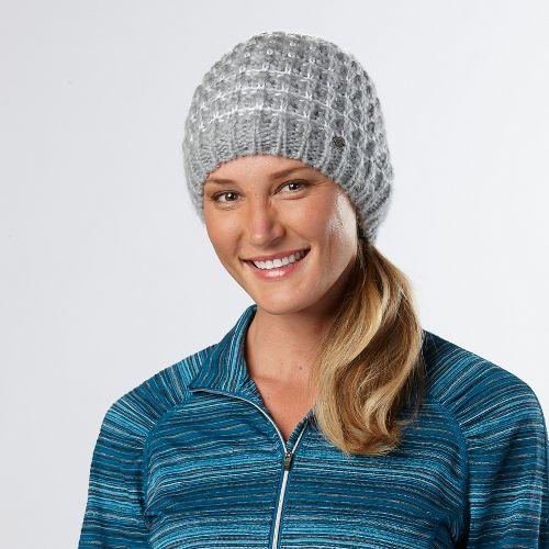 Womens R-Gear Knit Ready Beanie Headwear - Dove Grey/White