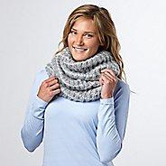 Womens R-Gear Knit Ready Infinity Scarf Headwear - Dove Grey/White