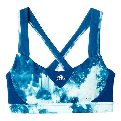Womens adidas Go-To-Gear Supernova - Print Sports Bras - Tech Steel M